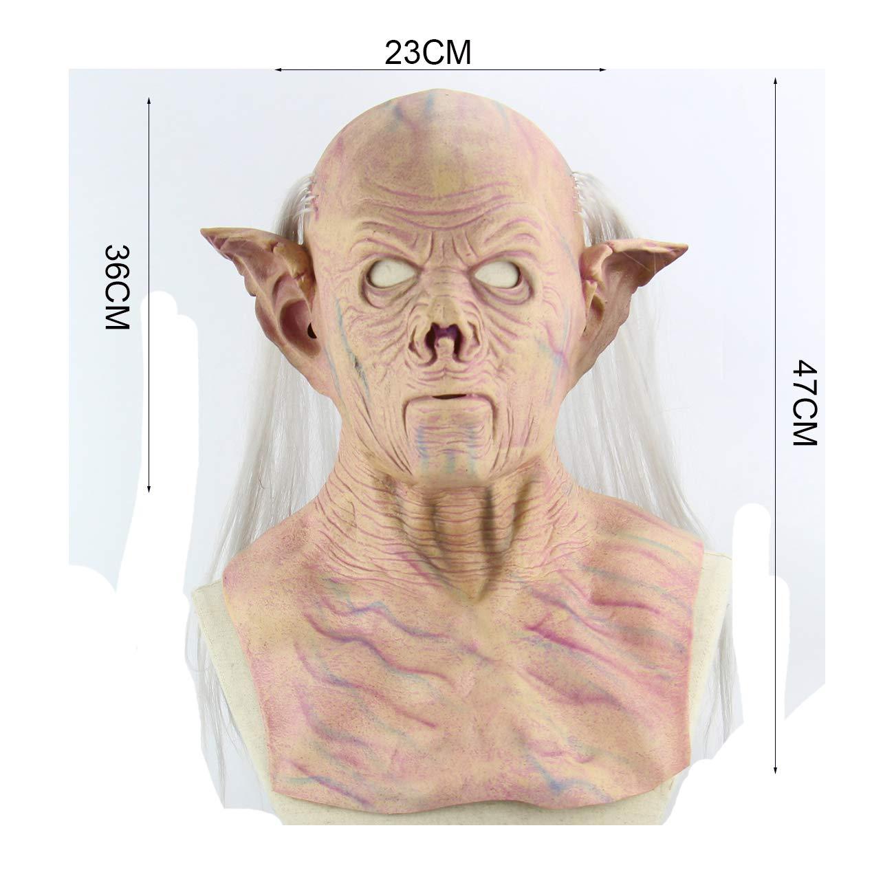 Halloween Máscara De Látex Alienígena Faraón 3D Novedad ...