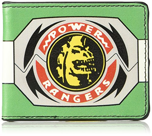 Buckle-Down Men's Wallet Power Rangers Green Ranger Dragon Morpher Accessory, -Multi, One Size (Power Rangers Dragonzord Costume)