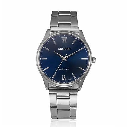 Relojes hombre Reloj de moda Reloj deportivo Reloj de pulsera de cuarzo analógico de acero inoxidable
