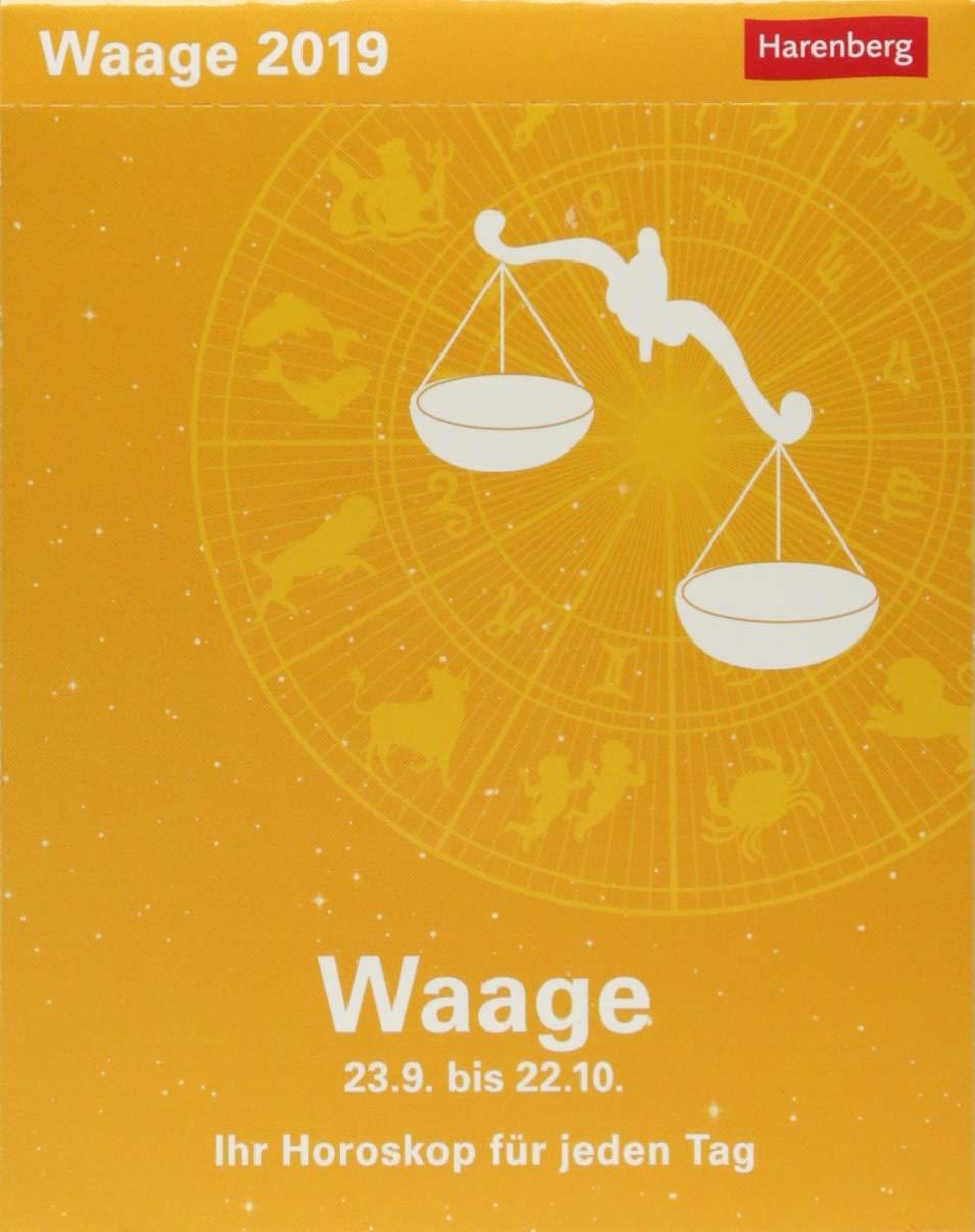 Waage - Kalender 2019: Ihr Horoskop für jeden Tag Kalender – 26. Juni 2018 Harenberg Robert Satorius Athesia Kalenderverlag GmbH 3840017491