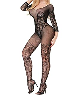 b26946beef Buitifo Womens Fishnet Bodystocking Plus Size Crotchless Bodysuit Sexy  Tights