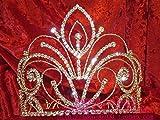 Quantity 1x Fashion_ beauty model -building_stage_show_ Wedding _awards_big,_ round _hat_full_ Crown Tiara Party Wedding Headband Women Bridal Princess Birthday Girl Gift Headdress _trim_ Headband