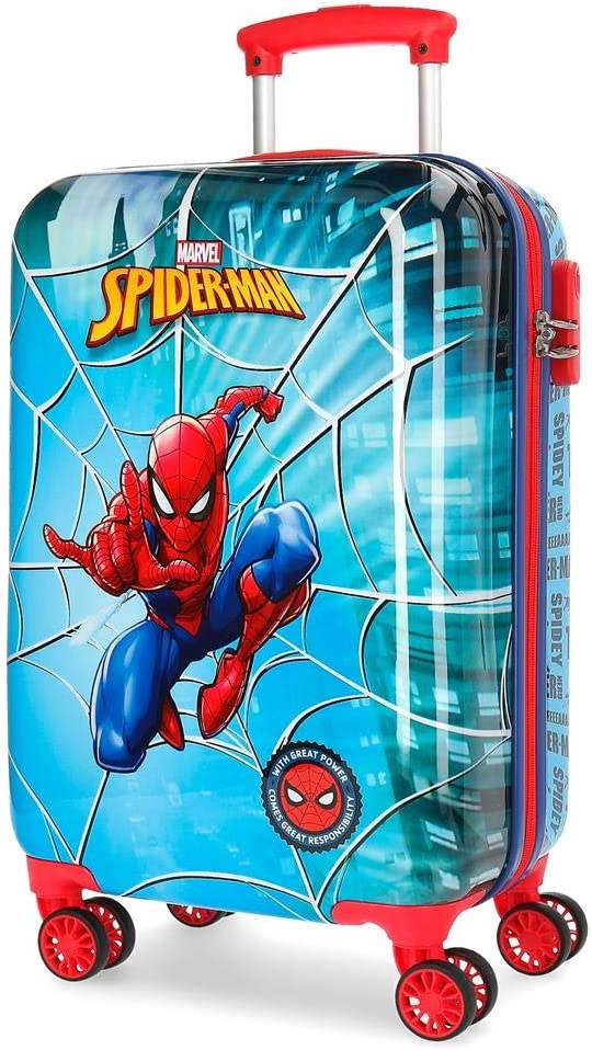 Marvel Spiderman Street Equipaje de Mano, Multicolor, 55 cm, 37.4 Litros