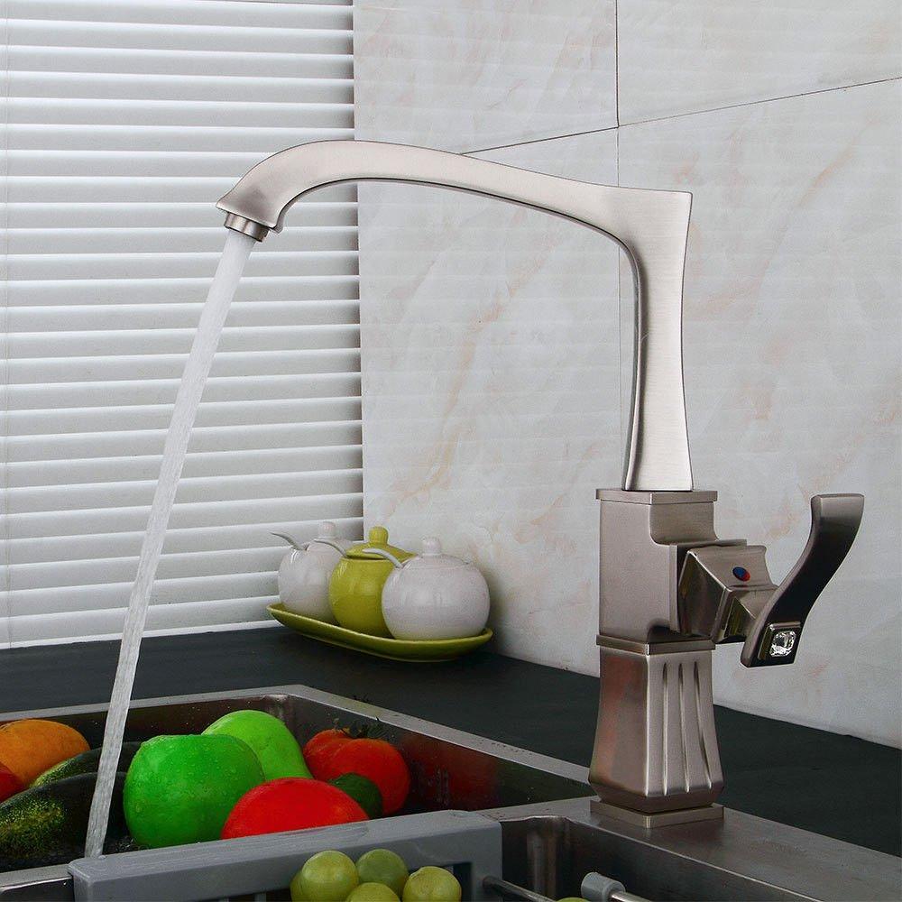 B XPYFaucet Faucet Tap Taps Antique simple copper hot and cold kitchen sink kitchen, A