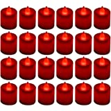 LANKER 24 Pack Flameless Led Tea Lights Candles - Flickering Battery Operated Electronic Fake Candles – Decorations for…