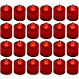 LANKER 24 Pack Flameless Led Tea Lights Candles - Flickering Battery Operated Electronic Fake Candles – Decorations for Weddi