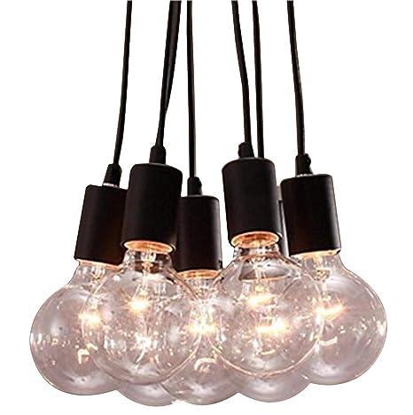 Asvert Lámpara de Techo Araña con 7 Brazos Lámpara del Techo ...
