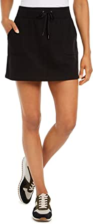 Ideology Womens Drawstring Wasit Fitness Skirt