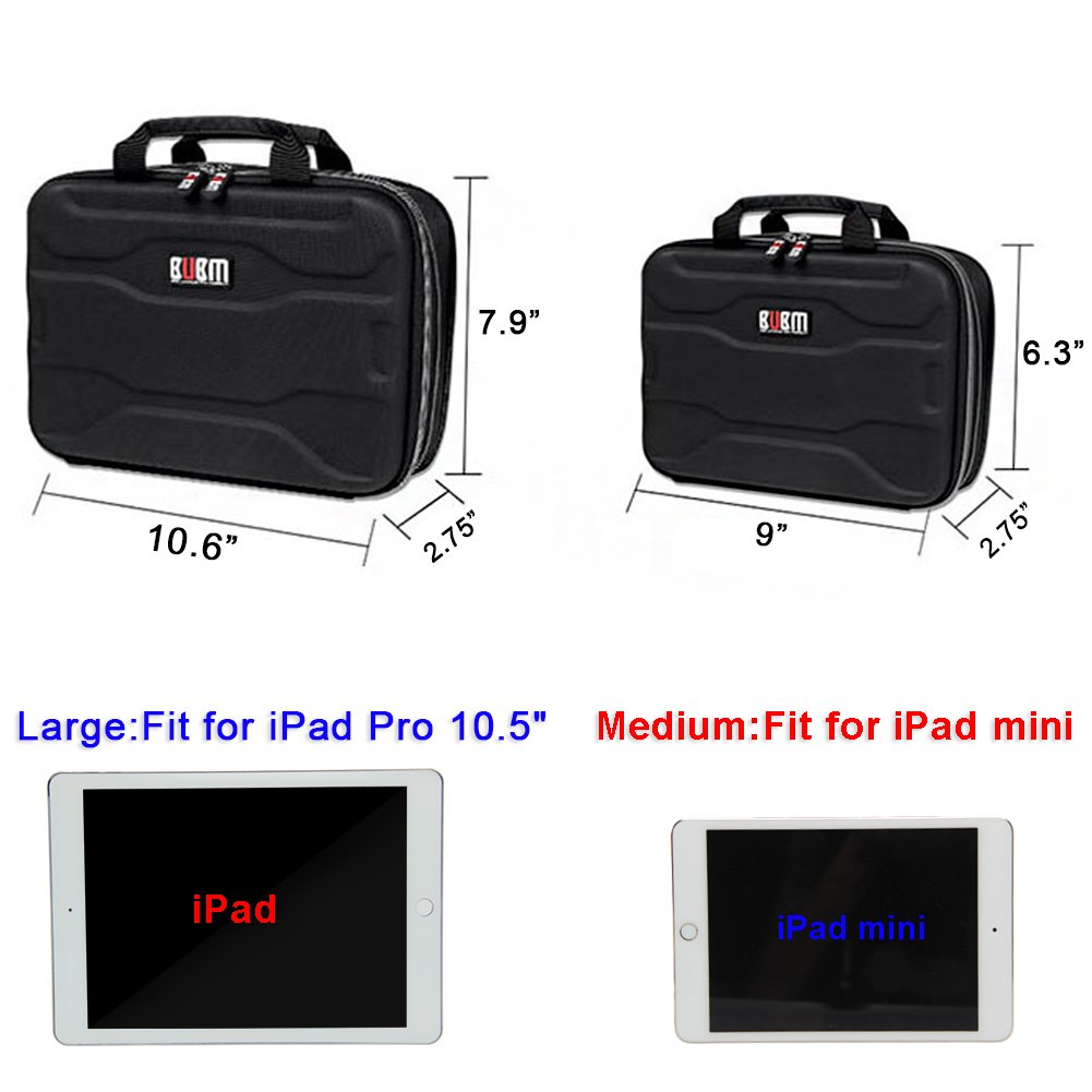 """BUBM Electronic Organizer, Hard Shell Travel Gadget Case with Handle for Cables, USB Drives, Power Bank and More, Fits for iPad Pro 10.5"""", Large by BUBM (Image #2)"""