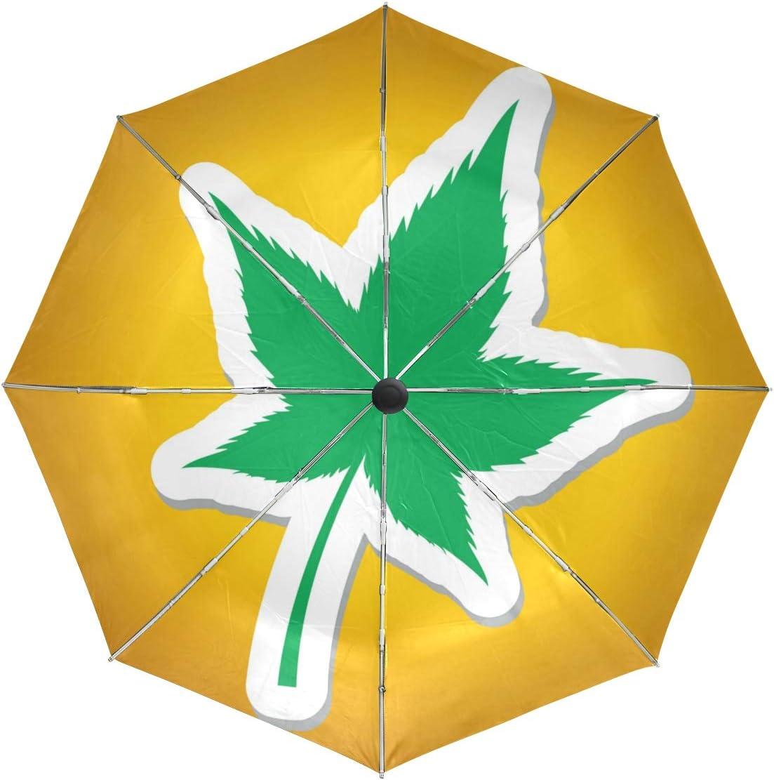 DEZIRO - Paraguas de Marihuana para Exteriores, Apertura automática, Resistente al Viento, Impermeable