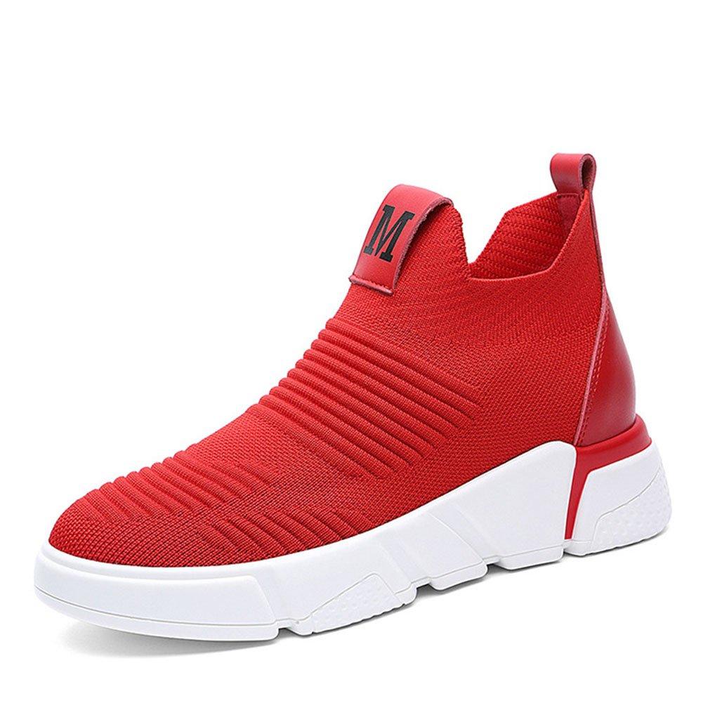 Zapatillas para mujer Zapatos casuales Malla transpirable PU Primavera Otoño resistente al desgaste Zapatos antideslizantes perezosos Señoras Deportes Zapatos casuales al aire libre Zapatos perezosos ( Color : Rojo , tamaño : 35 ) 35|