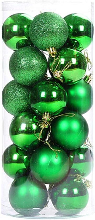 60mm Bolas Bola Hogar Ornamento Rojo X-Mas Decoración del árbol luxuary 16 un