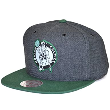fd67f8ef589ee7 Mitchell & Ness Snapback Cap NBA Woven Reflective Boston Celtics Charcoal