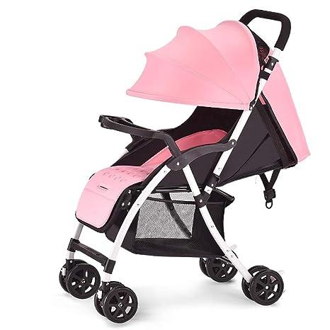Guo@ El cochecito de bebé puede sentarse y acostarse Carro infantil Ligero Portátil Plegable Amortiguador
