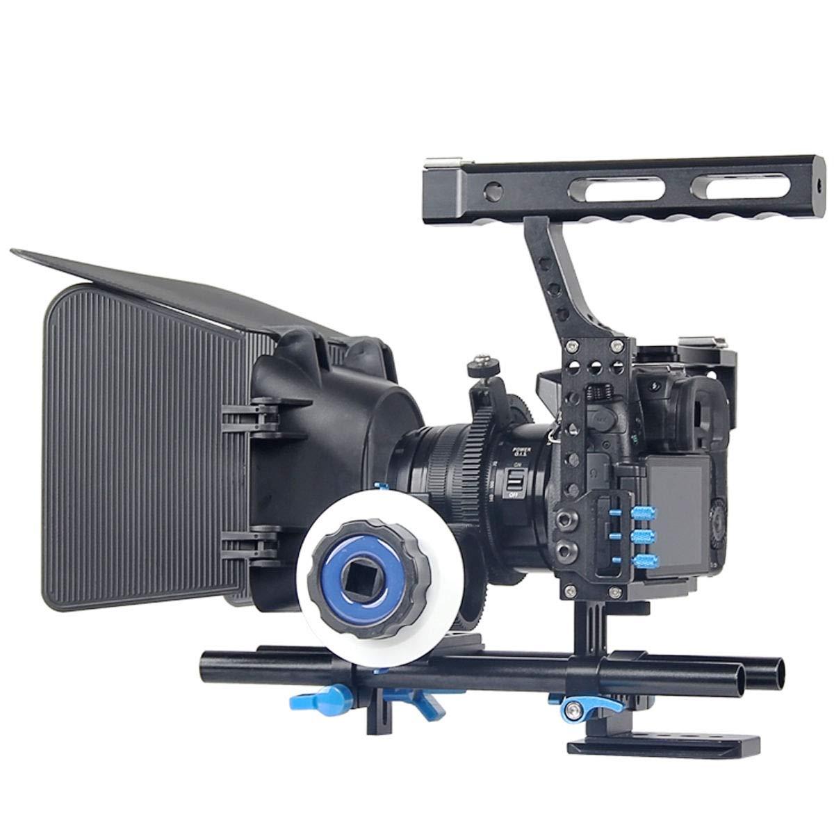 FidgetFidget Stabilizers for DSLR Camera Cage + Follow Focus + Matte Box Kit for Sony A7S A7 A7R A7RII A7SII by FidgetFidget (Image #1)