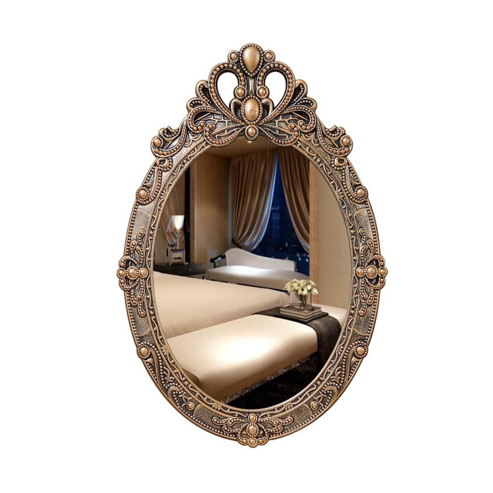 Mirror CAICOLOR Personality Bronze Beauty Salon Bedside Bathroom Wall Hanging Makeup
