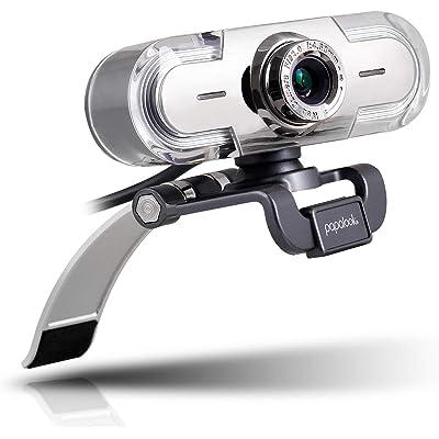 Webcam 1080P, Papalook PA452 de Alta Definición con Micrófono con Gran Apertura Compatible con Skype, MSN, Facebook, Google Hangouts, Webcam de USB Plug and Play, Web Cam para Ordenador, PC, etc