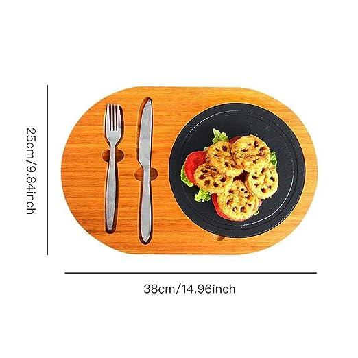 Compra BAYUE Plato de Pizarra Bandeja de Sushi Filete Barbacoa ...