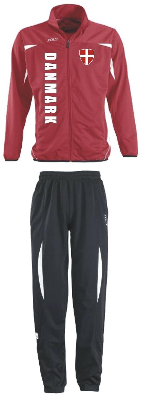 Dänemark Trainingsanzug - Sportanzug - S-XXL - Fußball Fitness