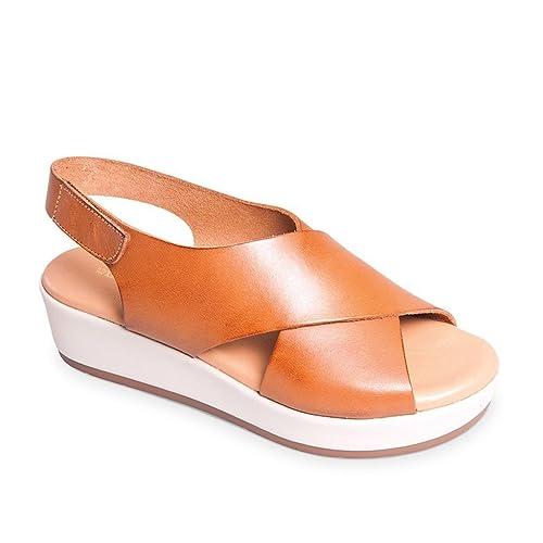 Chaussures de Football Homme Valleverde Scarpe Donna Sandali in Pelle Cuoio 34222-CUOIO Purple  43 1/3 EU kbTdK