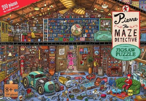 Pierre the Maze Detective 200 Piece Jigsaw Puzzle by Laurence King Publishing