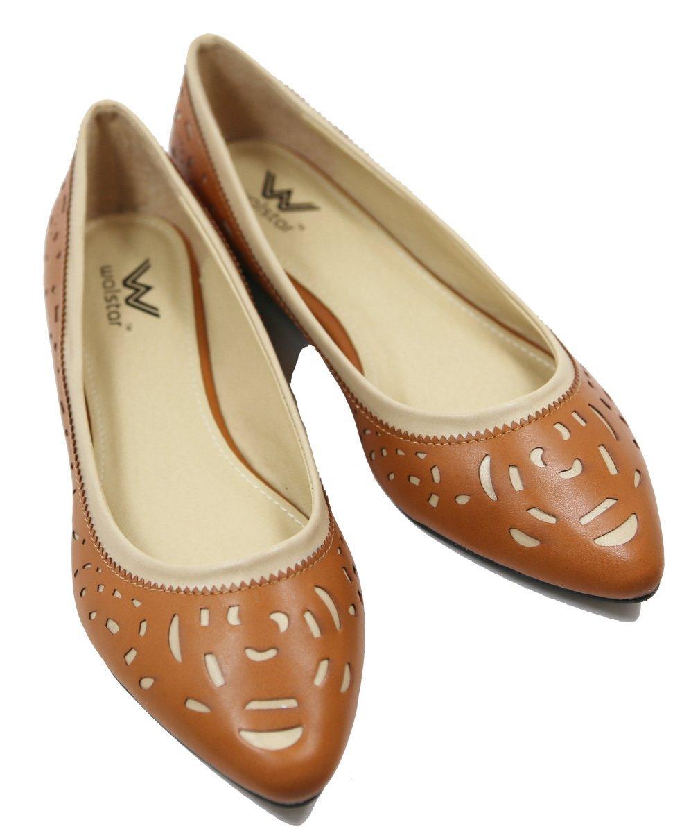 5ae99a908 ... Walstar Women s Comfortable Pointy Toe Toe Toe Flat Pumps Shoes  B01GENL27G 7.5 B(M) ...