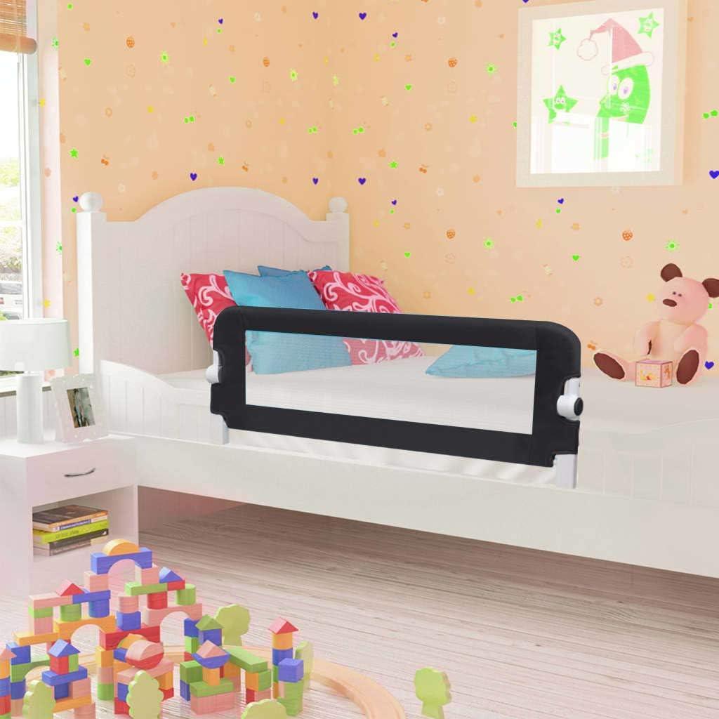Barrera de cama extralarga,Barandilla Plegable de La Cama Infantil 102 x 40,5 x 42 cm,seguridad anticaidas ni/ños,negro