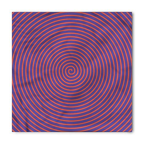 Hypnotic Violet - Ambesonne Unisex Bandana, Psychedelic Hypnotic Spiral, Orange Violet