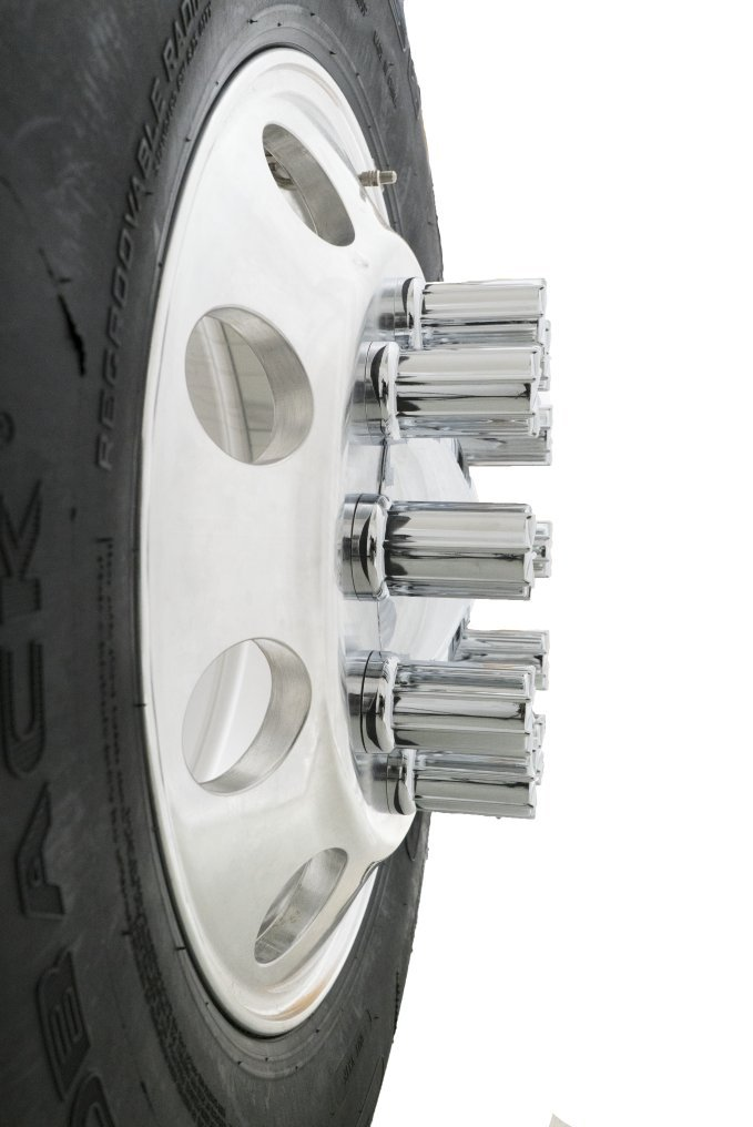 Diesel Laptops 20 Pack of 33mm x 3-3//8 Chrome 8 Spoke Screw On Nut Cover for Commercial Heavy Semi Trucks with 12-month Membership to TruckFaultCodes