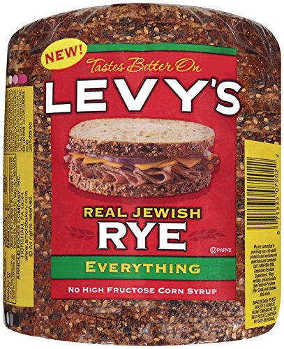 Jewish Bread - Levy's Real Jewish Rye Everything Bread, 1 Pound!