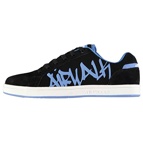 43818ee92 Airwalk Mens Neptune Shoes Lace Up Skate Sports Trainers Footwear Black Blue  CS4  Buy Online at Low Prices in India - Amazon.in