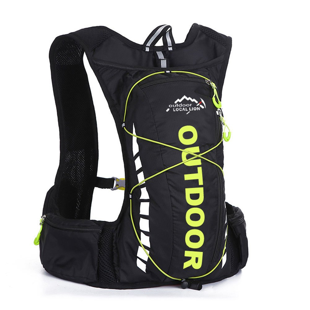 10L Outdoor Backpack Breathable Waterproof Hydration Bag for Running Riding Climbing Hiking
