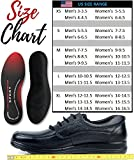 Physix Gear Sport Full Length Orthotic Inserts with Arch Support - Best Shock Absorption & Cushioning Insoles for Plantar Fasciitis, Running, Flat Feet, Heel Spurs & Foot Pain - Men & Women -2PAIR XS