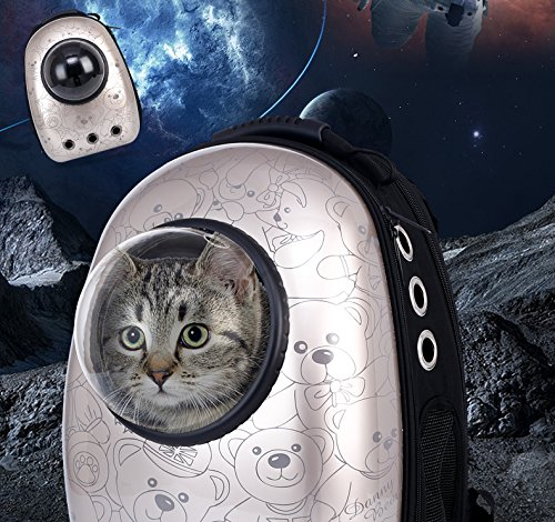 gold WLDOCA Pet Carrier For Dog,Cat And Rabbit Portable Pet Travel Transparent Breathable Space Capsule Fashion Pet Backpack