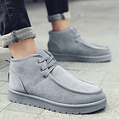 Casual 5 Thickening Size Size 3 Warm Snow Gray Boots Shoes Feifei UK6 Multiple Colors Men's EU39 Choice CN40 Keep Color Fashion wxHq1XwgY