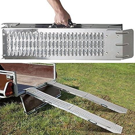 Idmarket – Set de 2 rampas plegables galvanizadas especiales para ...
