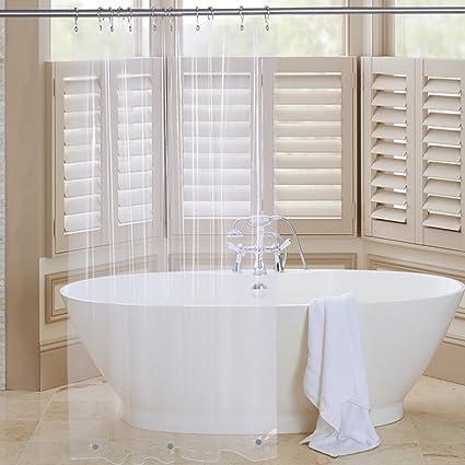 Amazer Shower Curtain Liner 72quot X 96quot Clear EVA 5G Mildew Resistant Bathroom