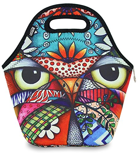 Neoprene Lunch Bag Tote by QOGiR - Large 12