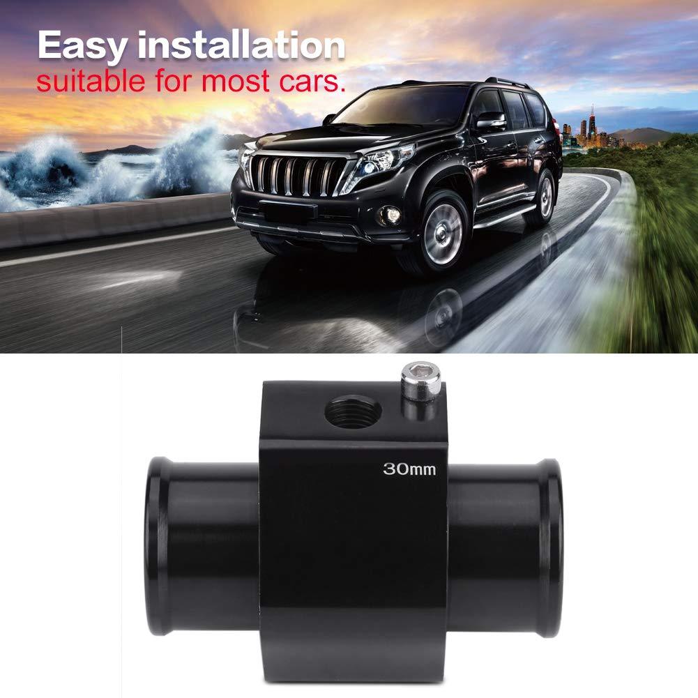 Qiilu Auto Wassertemperatur K/ühlerschlauch Wassertemperaturanzeige Sensor Adapter 40mm