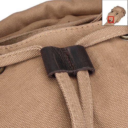 Fafada Vintage Lienzo Mochilas para Hombre Mochilas Casual Bolsas De Viaje Senderismo Bolsos Satchels Kahki Size: 30x16x45cm/11.81x6.30x17.72in Caqui