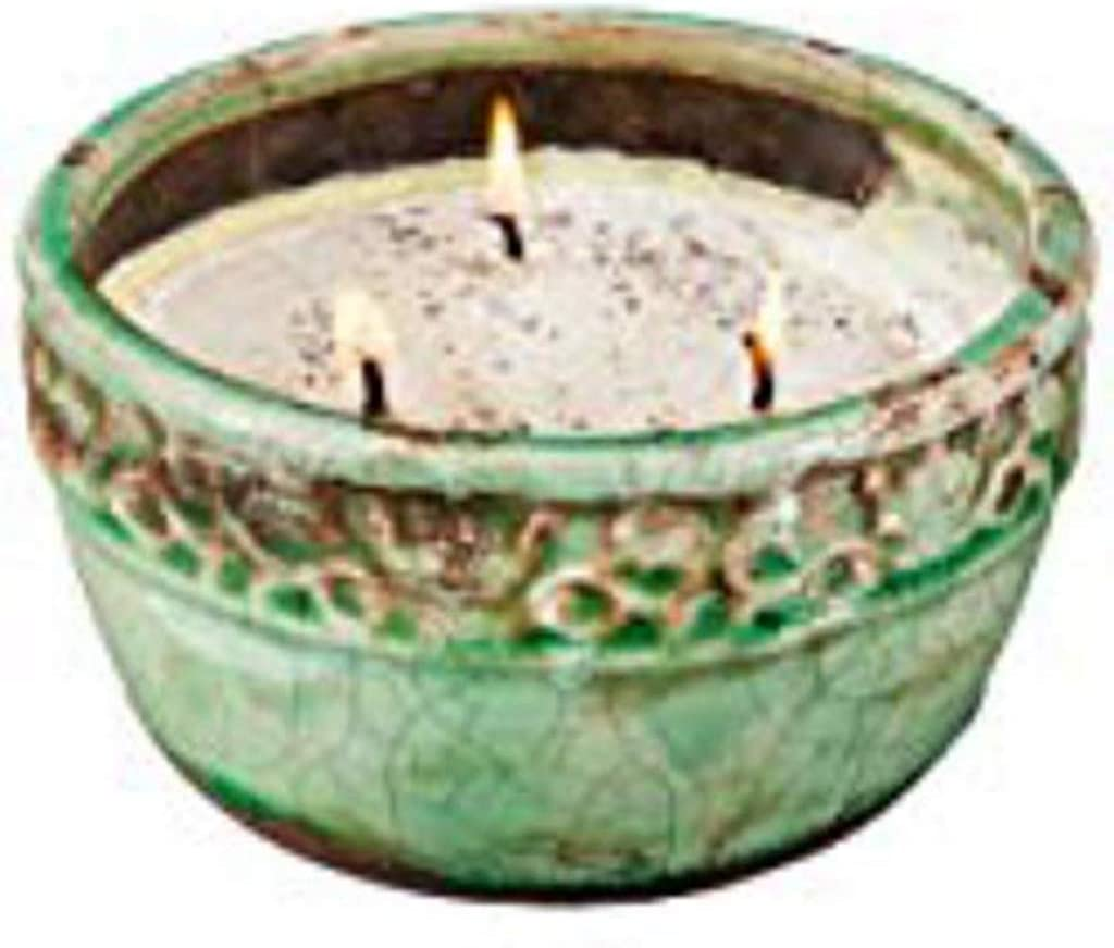 Swan Creek decorative VINTAGE BOWL CANDLE 17 oz Roasted Espresso Soybean Wax