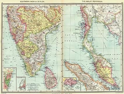 Amazon.com: SOUTH INDIA. Sri Lanka; Malay Peninsula; Chennai ... on map hong kong, map india world, map india indus river, map india pakistan, map cambodia, map singapore, map india china, map india maldives, map india afghanistan, map india syria, map india himalayas, map india united states, map brazil, map malaysia, map australia, map india thailand, map india to japan, map india tibet, map india mauritius, map india bangladesh,