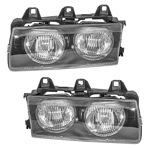 Driver and Passenger Headlights Headlamps Replacement for BMW 63121387861 - Headlights Replacement Bmw