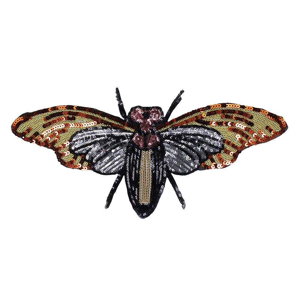 1 pieza de lentejuelas para bordar abejas grandes, parches de tela ...