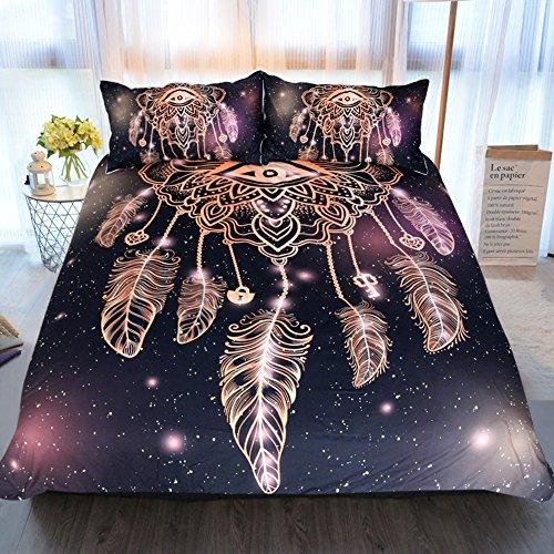 Sleepwish Dreamcatcher Duvet Cover 3 Pcs Purple Black Beddin