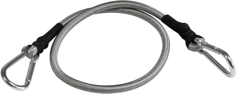Windhager Mosquetón Cuerda expansor Seguridad de Transporte Cuerda de Goma Cuerda de Lona Tensor para Velas Mosquetón 4 Unidades, 70 cm, Negro, 70 x ...