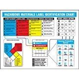 "Accuform Signs ZTP108 Haz-Mat Identification Poster, ""HAZARDOUS MATERIALS LABEL IDENTIFICATION CHART"", 18"" Length x 24"" Width, Laminated Flexible Plastic"