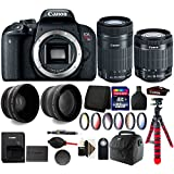Canon EOS Rebel T7i 24.2MP Digital SLR Wifi Enabled Camera Black with EF-S 18-55 IS STM and EF-S 55-250mm IS STM Lenses + 32GB Accessory Kit