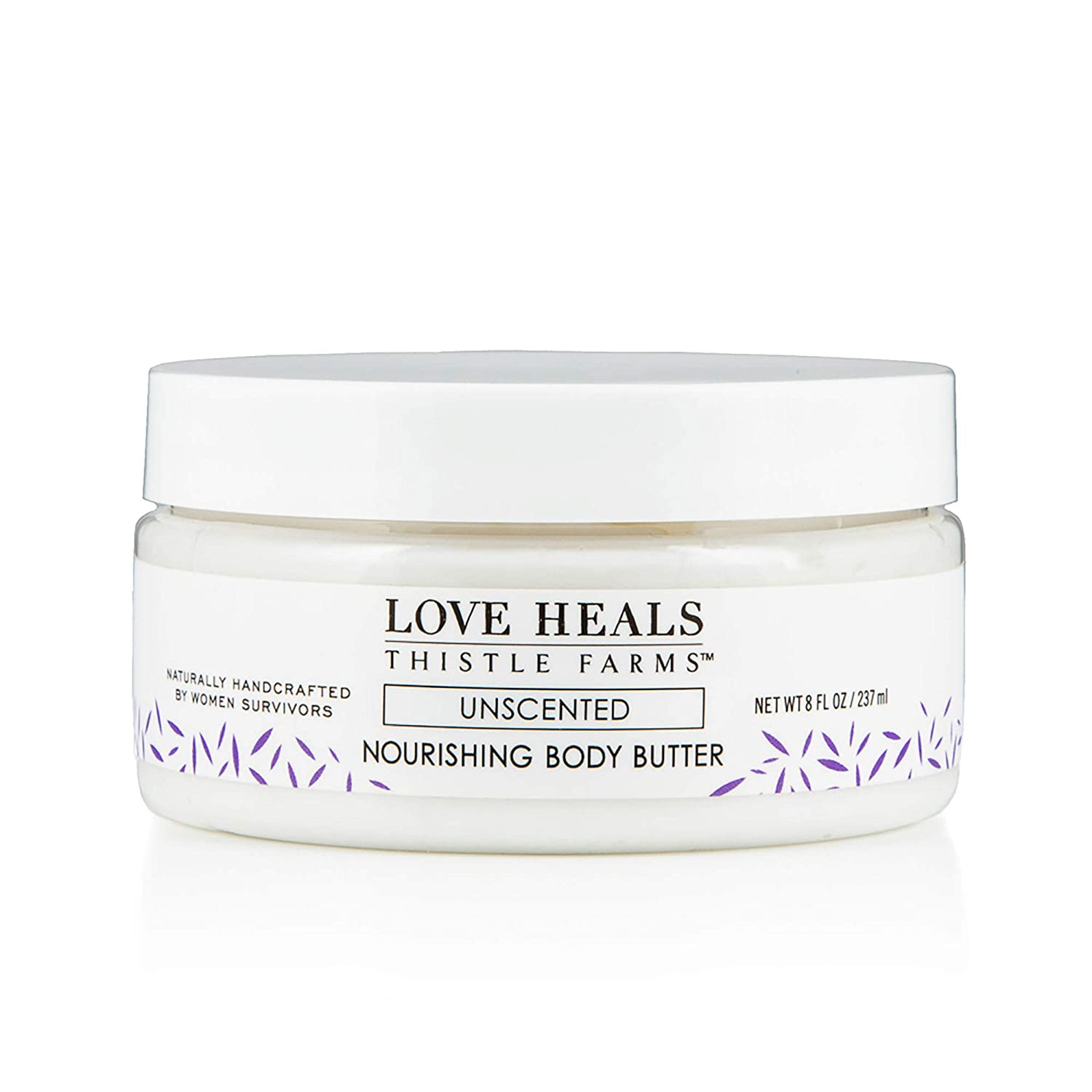 Thistle Farms | Nourishing Body Butter | Moisturizing Cream Whipped with Organic Coconut Oil handmade by Women Survivors (Unscented)