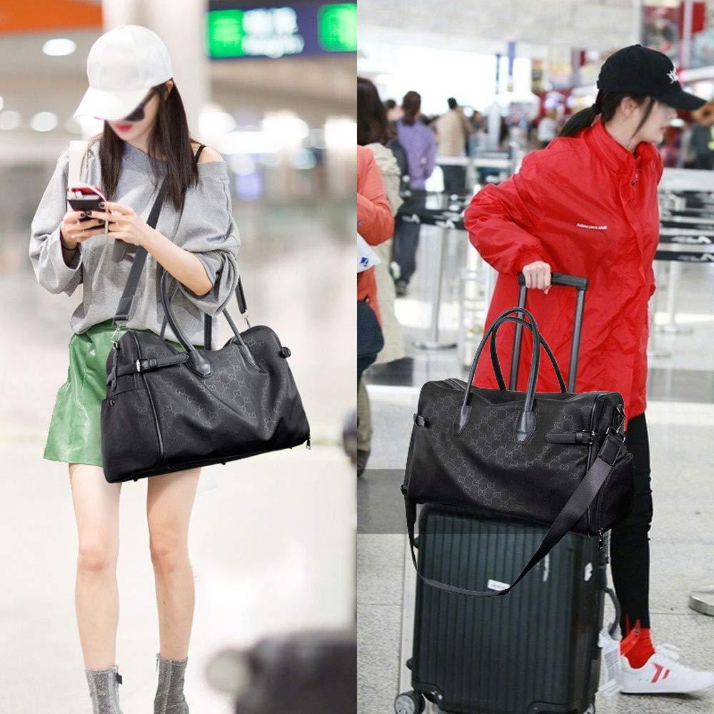 GYZ Sports Bag Fitness Bag Travel Bag Female Portable Short-Distance Luggage Bag Large Capacity Dry and Wet Separation Fitness Bag Boarding Travel Bag Black Size : 44x20x28cm